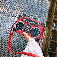 Retro radio handbag 2019 new fashion trend shoulder messenger handbag PU leather crossbody hand bags