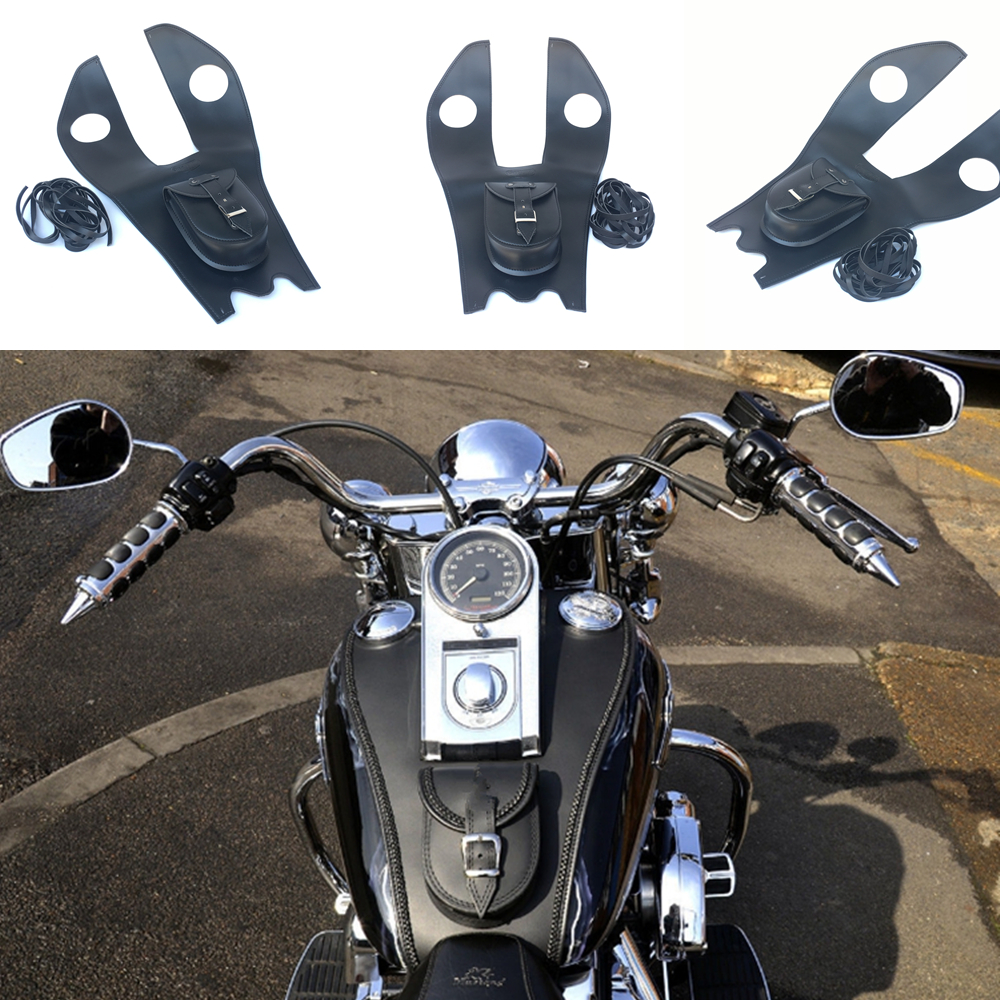 Leather Tank Panel with Pouch for Harley Softail Fatboy HERITAGE DELUXE LEATHER TANK Cover Panel Pad Chap BibLeather Tank Panel with Pouch for Harley Softail Fatboy HERITAGE DELUXE LEATHER TANK Cover Panel Pad Chap Bib