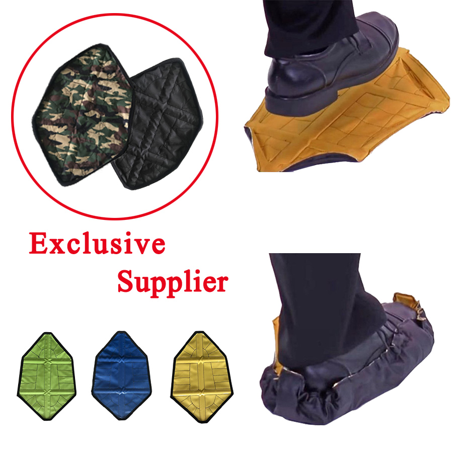 2pcs/pair Step In Sock Reusable Shoe Cover One Step Hands Free Reusable Shoe Cover Durable Portable Automatic Overshoes Covers