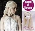70 cm Peluca Princesa Dragón Juego De Tronos Daenerys Targaryen Trenzar el Pelo Rizado Largo de Onda de Luz Rubia Peluca Cosplay Libre Shiping