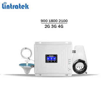 Lintratek 4G Repeater GSM 2G 3G 4G Booster 900 1800 2100 Tri Band Signal Booster GSM 900 1800 3G 2100 Signal Ampli KW20C-GDW - DISCOUNT ITEM  40% OFF All Category