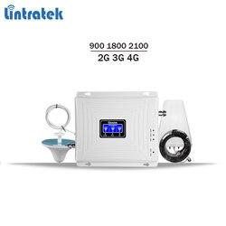 Lintratek ripetitore 2G 3G 4G tri band Ripetitore 900 1800 2100 ripetitore del segnale gsm 900 4G 1800 3g 2100 amplificatore di segnale KW20C-GDW #59