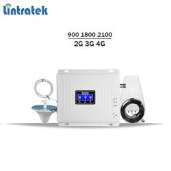 Lintratek tri band ripetitore 900 1800 2100 2G 3G 4G ripetitore del segnale gsm 900 lte 1800 3g 2100 cellulare amplificatore di segnale KW20C-GDW #64