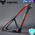 TRIFOX Mountain Bike Frame 15.5/17/19inch MTB Carbon Frame 29er Mountain Frame+Seat Clamp+Headset 2 Year Warranties 4 Colors