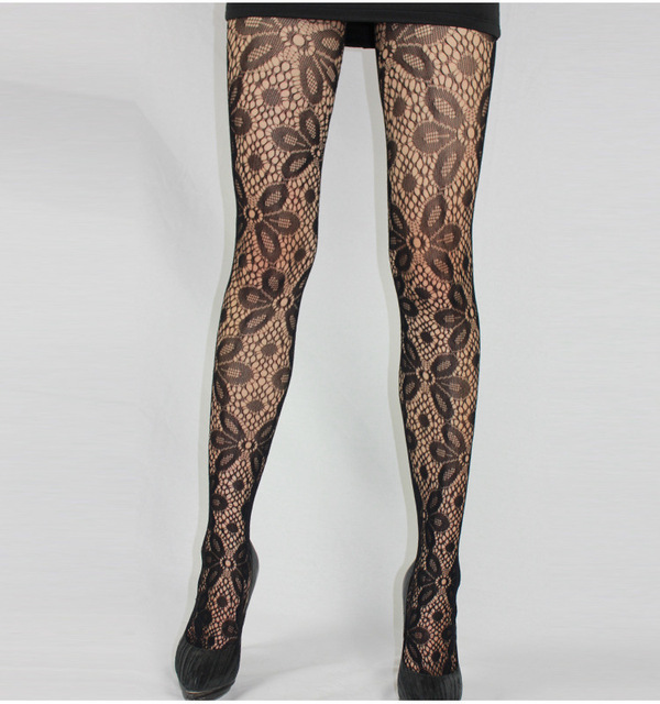 Fishnet Pattern Jacquard Pantyhose Tights - 1pcs dww42 3