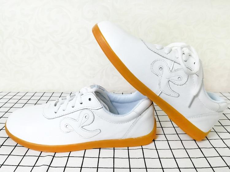 Turnschuhe Echtes Leder Rindsleder Chinesische Taichi Schuhe Wushu Kungfu Schuhe Taiji Schwert Spiel Schuhe Für Kinder Männer Frauen Junge Mädchen Kinder Fitness & Cross-training-schuhe