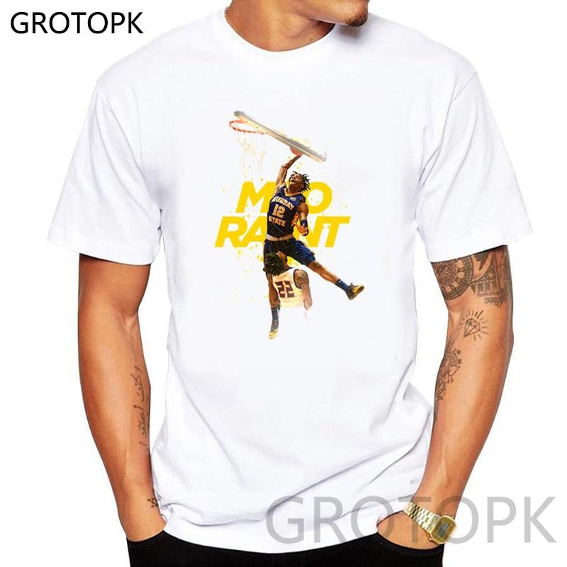 Basketball Star Ja Morant Printed Streetwear T Shirts 2019 Summer Mens Hip Hop Casual Short Sleeve Tops Tee Shirt Male Tshirts