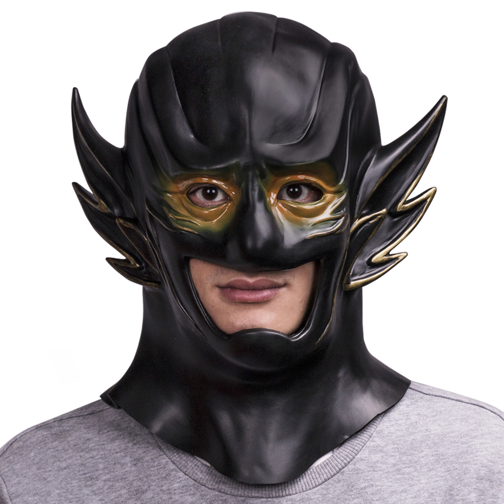 The Flash 3 Mask Cosplay New 52 Reverse-Flash Mask Halloween Helmet Mask Hood