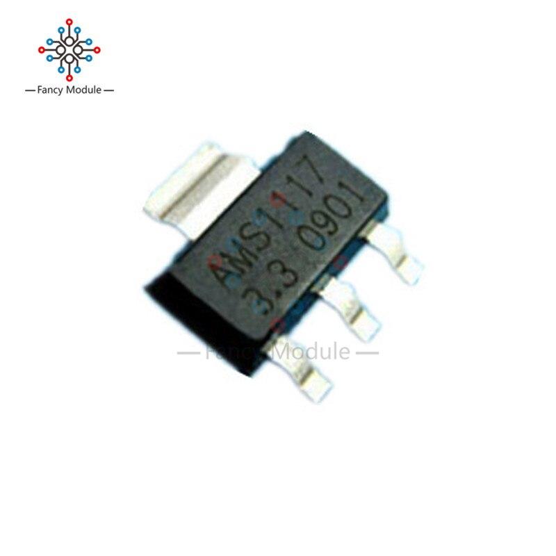 50Pcs AMS1117 AMS117-3.3 3.3V 1A Voltage Regulator SOT-223 fz