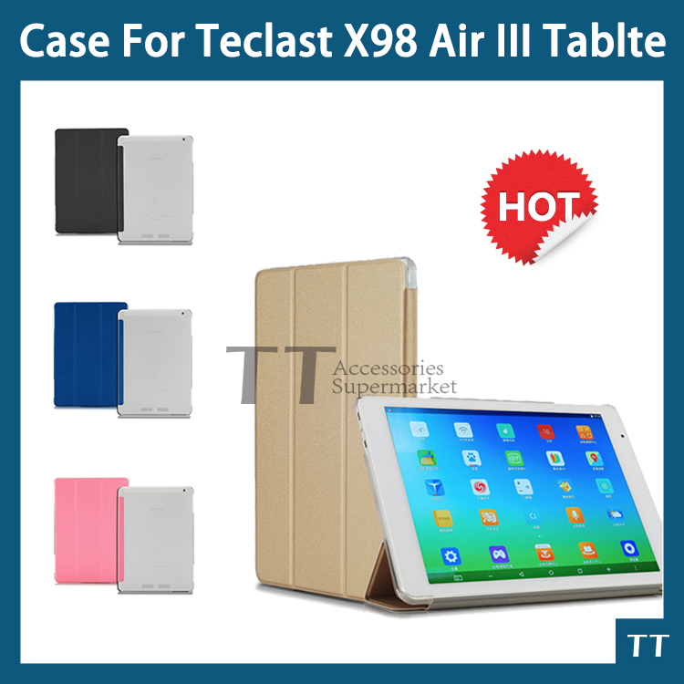 for teclast X98 Air 3 case PU Leather Protective Case cover For teclast X98 Air III X98 plus 9.7inch Tablet PC+ free 2 gifts ocube dhl ems free folio stand printing pattern pu flower protective leather case cover for teclast 98 octa core 10 1 tablet