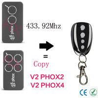 Copy V2 PHOX2 V2 PHOX4 433 92mhz Rolling Code Remote Control With Battery