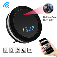 HD 1080P WiFi Round Clock Mini Camera Night Vision Motion Sensor Video Audio Recorder DVR Wireless Surveillance Cam Colorful