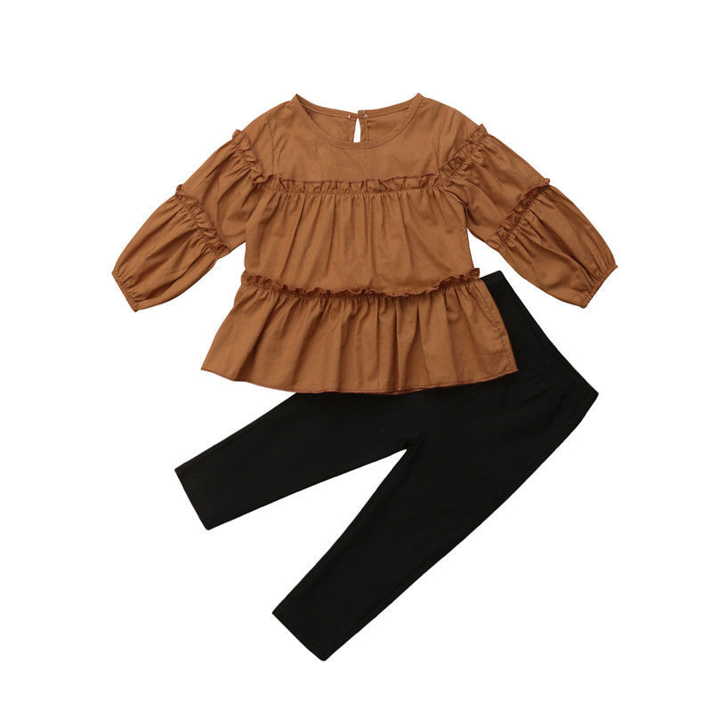 Spring Autumn Youngsters Ladies Garments Units Pleated Shirt T-Shirt Tops+Leggings 2PCS Ladies Clothes Set 2T 3T 4T 5T 6T Clothes Units, Low-cost Clothes Units, Spring Autumn Youngsters Ladies Garments...