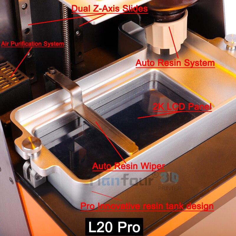 Dazz 3D plus avancé LCD SLA 3D imprimante haute précision qualité dlp 3d Impresora pour Bijoux dentisterie pièces de précision modèles - 3