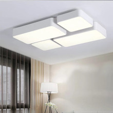 HAWBOIRRY LED Living Room Aisle Balcony Hall Bedroom Restaurant Hotel Modern Simple Puzzle Square Shaped Ceiling Light