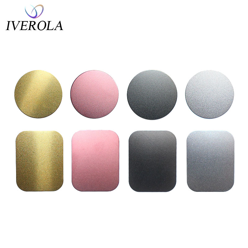 2018 Matte Metal Plates Sticker Replace For Magnetic Car Mount Phone Holder Ultra Slim Iron Sheet Strong Magnet Stand Film