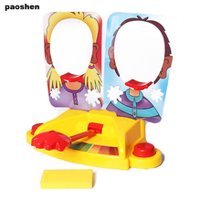 Funny Double Person Toy  Cake Cream Pie In The Face  Anti Stress Toy for kids  Party Fun Game Prank Jokes for kids Gift