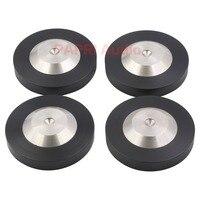 PAPRI 4PCS 39*12MM 304 Stainless Steel Graphite Speaker Audio HIFI CD DAC Amplifier Preamp Isolation Spike Feet Pad