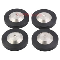 PAPRI 4PCS 39*12MM 304 Stainless Steel Graphite Speaker Audio HIFI CD DAC Amplifier Preamp Isolation Spike Feet Pad