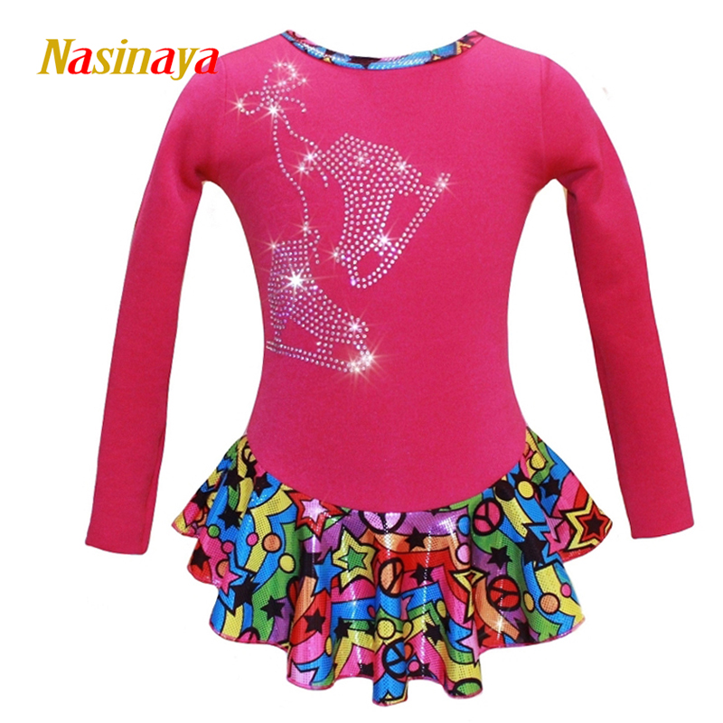 Nasinaya Figure Skating Dress Customized Competition Ice Skating Skirt for Girl Women Kids Patinaje Gymnastics Performance 290Nasinaya Figure Skating Dress Customized Competition Ice Skating Skirt for Girl Women Kids Patinaje Gymnastics Performance 290