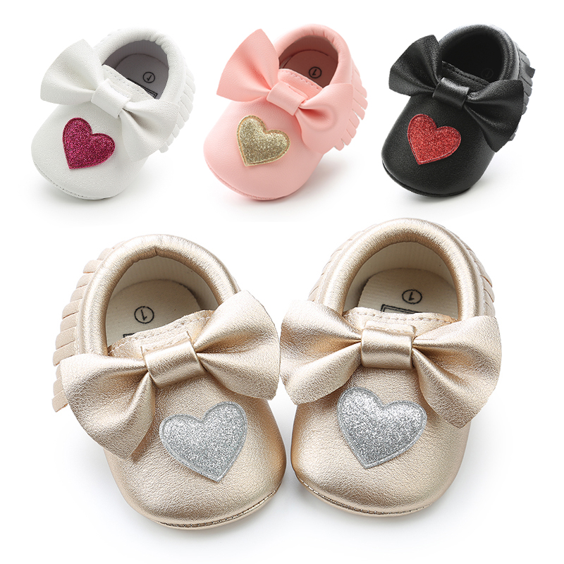New Arrival PU Leather Newborn Baby Boys Girls Shoes Infant Bebe Soft Soled First Walkers Spring Autumn Baby Bowknot Moccasins.