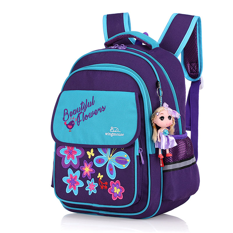 e038b0b8180e Dropwow 2019 New School Bags For Girls Embroidery Butterfly Children ...