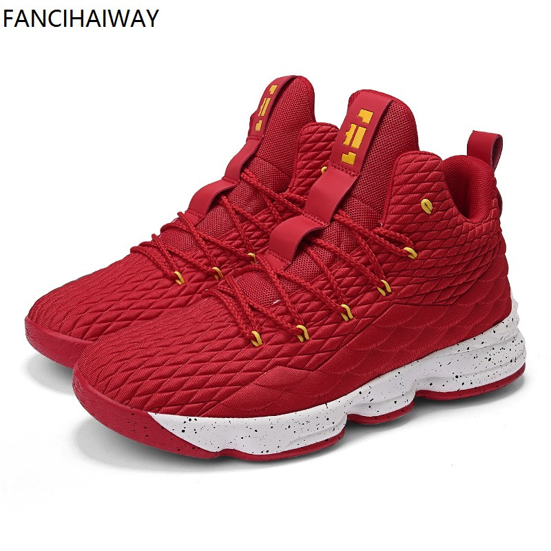 FANCIHAWAY Hot sell Breathable Basketball Shoes Men New High Top Cushioning Sneakers 15 Women Outdoor Sports Mens Big size 36-46