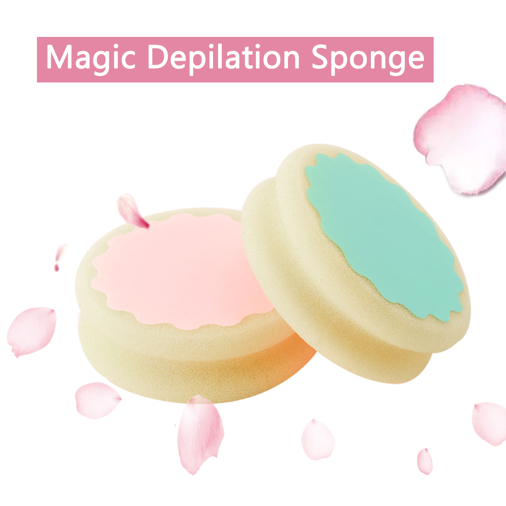 1PCS  Design Magical Hair Removal Sponge Painless  Depilation Sponge Soft Cute Depilation Tools Skin Care Sponges Beauty