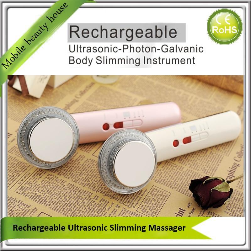 Rechargeable Galvanic Ion Ultrasonic Bio Wave Micro Massage Photon Rejuvenation Body Slimming Beauty Instruments