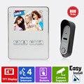 Homefong 4 pulgadas Video de La Puerta Del Timbre Del Teléfono Intercom Sistema 800TVL HD Diseño de Moda Abrir Expediente