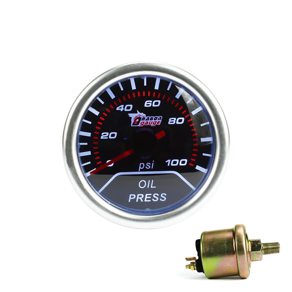 """Prix pour Livraison gratuite!! presse à huile jauge 2 """"(52mm) de pression D'huile jauge 0-100 PSI affichage/de voiture Auto jauge/Tachymètre/Voiture Racing compteur"""