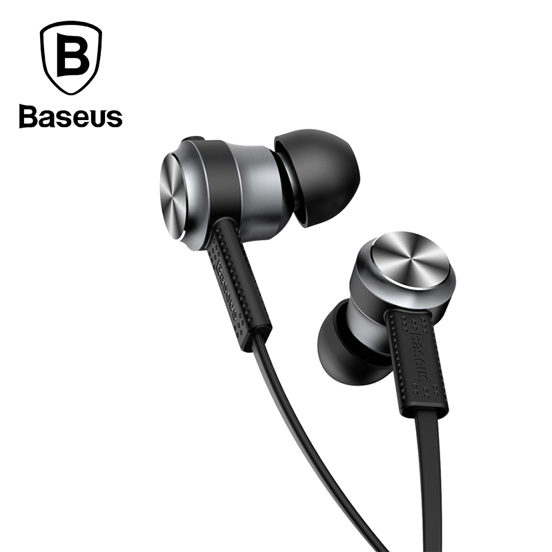 Baseus In Ear Stereo Earphone For iPhone 5 6S Samsung 3 5mm Aux jack Sport earbuds