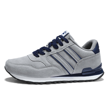 LeFoche 2019 Men's Leather Running Shoes Breathable Sneakers Men Outdoor Sport Shoes For Male Zapatillas Runners Shoes