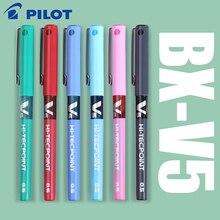 7 ピース/ロット日本パイロット V5 液体インクペン 0.5 ミリメートル 7 色 BX V5 選択する標準のペン、オフィスや学校文房具スタイル