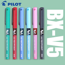 7 pcs/lot Japan Pilot V5 Liquid Ink Pen 0.5mm 7 Colors to Choose BX V5 standard pen office and school stationery style
