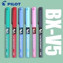 7 sztuk/partia japonia Pilot V5 płynny atrament pióro 0.5mm 7 kolorów do wyboru BX V5 standardowy długopis biurowe i szkolne piśmienne styl
