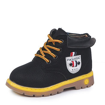 JGVIKOTO Boys Winter Boots Kids Martin Lace-up Fashion Classical Children Snow With Warm Cotton 4 Colors Size 21-30 - discount item  20% OFF Children's Shoes