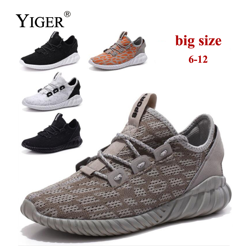 YIGER New Men winter Sneakers Mesh Shoes Big Size Man Casual Shoes Breathable Shoes Footwear Loafers Lace-up Male shoes 0119 dekabr brand 2018 summer shoes new arrivals lace up casual shoes mesh breathable light weight male soft men shoes big size 38 45