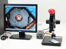 Discount! Best Sale,5.0M Digital Mono Zoom video Microscope lens + Stand +USB2.0  camera + LED ringlight