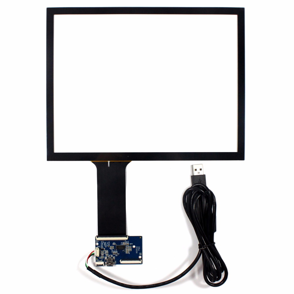 10.4 Capacitive Touch Screen+USB Controller For 800x600 1024x768 4:3 LCD Screen 8 4inch 8 4 non touch industrial control lcd monitor vga interface white open frame metal shell tft type 4 3 800 600