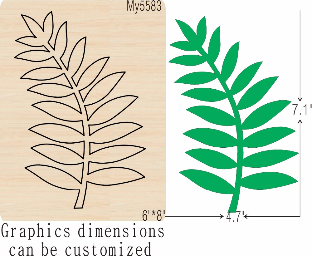 Slender green leaves new wooden mould cutting dies for scrapbooking Thickness 15 8mm