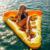 180*150 cm Rebanada de Pizza Piscina Flotador Enorme Balsa Flotante Anillo de Natación inflable del Agua de Piscinas de Baño Juguetes de Baño Flotante TD0038