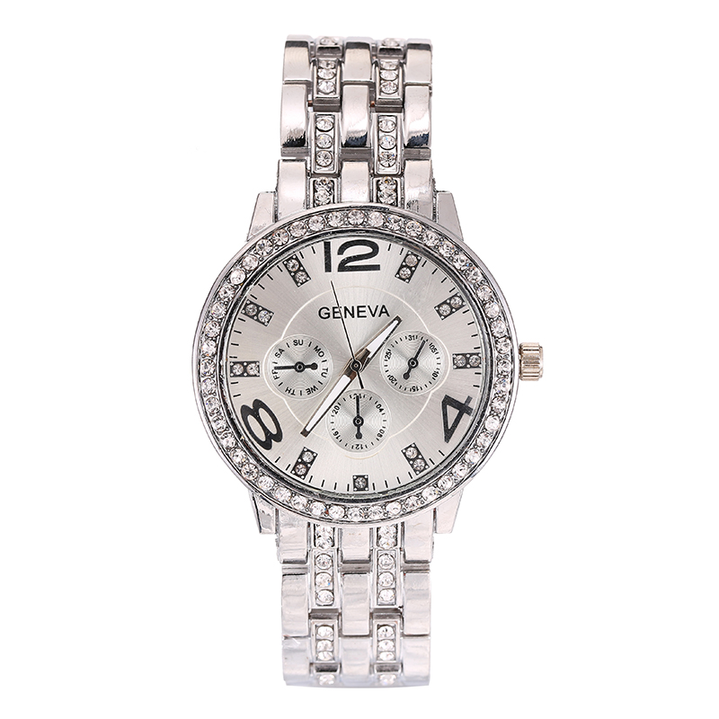 Watches Men's And Women's Digital Watch Stainless Steel Folding Clasp Analog Clocks With Quartz Watch Luxury Business