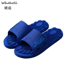 Whoholl 2019 Men Slippers Summer Beach Male Slides Women Non-slip Flip Flops Solid Style Outdoor Indoor Sandals for Couple Soft
