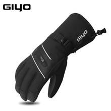 GIYO Waterproof Ski Gloves For Cycling Warm Fleece Snow Glove Snowmobile Snowboard Gloves Mittens Winter Sport Thermal Glove