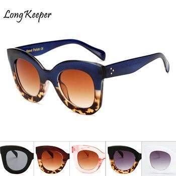 Long Keeper Brand Designer Women Square Retro Men Sunglasses 2020 Fashion Oversided Lady Leopard Frame New Eyewear AM6856