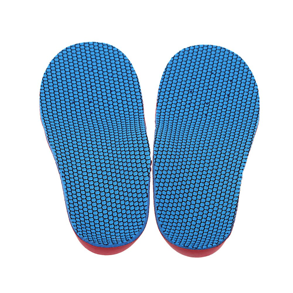 TEXU-An Pair of children orthopedic insoles EVA foot flat foot Varus O type Legs/ X corrective insole XS