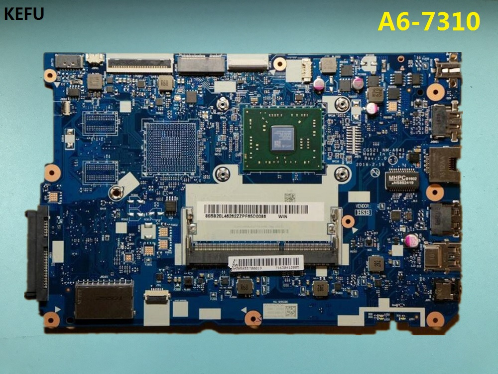 KEFU High quanlity for lenovo 110 15ACL NM A841 CG521 Laptop Motherboard with A6 7310 CPU Testing Fast Ship-in Motherboards from Computer & Office    1