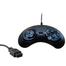 Nueva 6 digital Botones Wired Controller pad para Sega mega drive Megadrive GamePad joystick para Sega Genesis MD