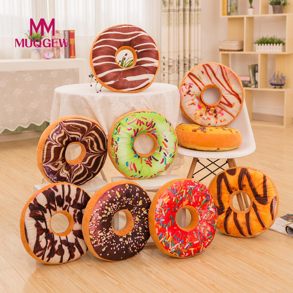 MUQGEW Brand Christmas Toys pillow, Valentines Gift Led Light Pillow,plush Pillow, Hot Colorful Donuts,kids Toys, Birthday Gift high quality colorful change bear luminous pillow soft plush pillow led light pillow kids toys
